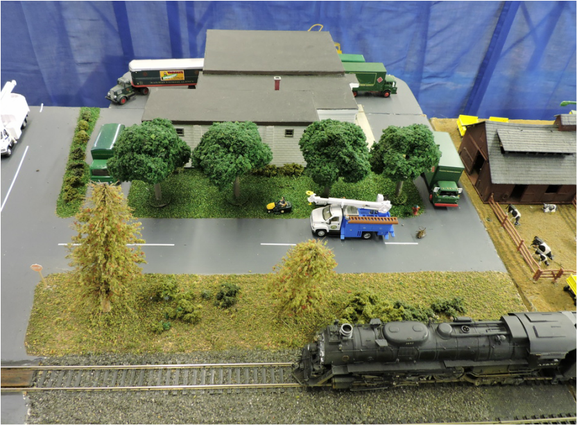 Model of the Railroad Express Building